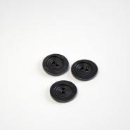 Gumb, kostimski, crna, 18 mm, 15506-1E
