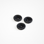 Button, for suits, spider web, black, 18 mm, 15506-1F