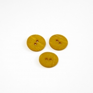 Button, for suits, yellow, 18 mm, 15506-1K