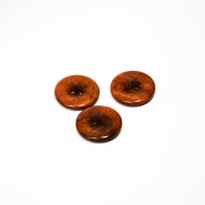 Button, for suits, brown, 18 mm, 15506-1L