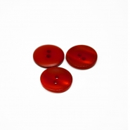 Button, for suits, red, 17mm, 15506-1S