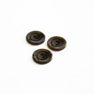 Gumb, kostimski, smeđa, 18 mm, 15506-11A