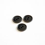 Button, for suits, black, 18 mm, 15506-11G