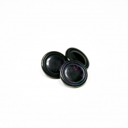 Button, for suits, bomblet, dark purple, 18mm, 15506-2A