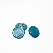 Button, for suits, bomblet, turquoise, 17 mm, 15506-2C