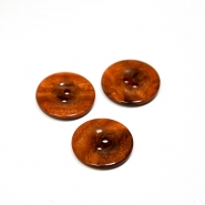 Button, for suits, brown, 22 mm, 15508-1L