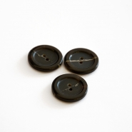 Button, for suits, dark brown, 23 mm, 15508-11E