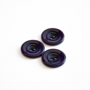 Button, for suits, dark purple, 23 mm, 15508-11J