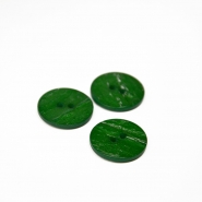 Button, for suits, green, 21 mm, 15508-11P