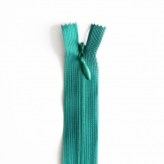 Zipper, invisible 22 cm, 04 mm, 4471-630, petroleum green