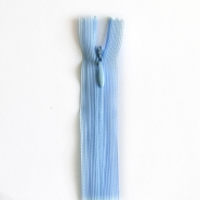 Zipper, invisible 22 cm, 04 mm, 4471-504, light blue