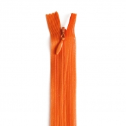 Zipper, invisible 22 cm, 04 mm, 4471-345, orange