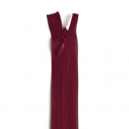 Zipper, invisible  22 cm, 04 mm, 4471-366, burgundy red
