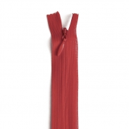 Zipper, invisible 22 cm, 04 mm, 4471-364, red