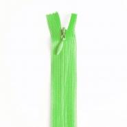 Zatvarač, skriveni 22 cm, 04 mm, 4471-616, zelena