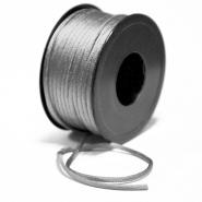 Cord, viscose, 3mm, 15462-3055, silver