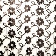 Čipka z bleščicami, 13203-2, črna