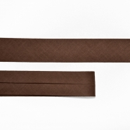 Bias tape, cotton, 15516-8, dark brown