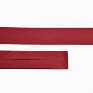 Bias tape, cotton, 15516-49, burgundy red