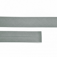 Bias tape, cotton, 15516-173, grey