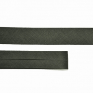 Bias tape, cotton, 15516-37, dark green