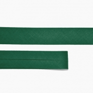 Bias tape, cotton, 15516-27, dark green