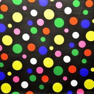 Satin, polyester, dots, 13931-01
