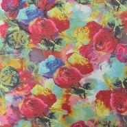 Žakard, tisk, cvetlični, 15549-017