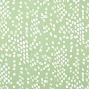 Jersey, viskoza, kvadratki, 15552-022, zelena