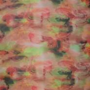 Mreža, elastična, cvetlični inkjet tisk, 15613-002