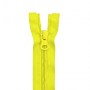 Zipper, divisible 50 cm, 6 mm, 2050-105, yellow