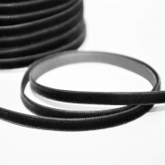 Elastika, žamet, 10mm, 14165-917, črna