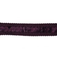Trim, reps, sequins, 15mm, 14165-61, purple