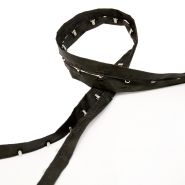 Haken im Band, 14165-75, schwarz