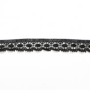 Čipka, bombaž, 25mm, 14165-34, črna