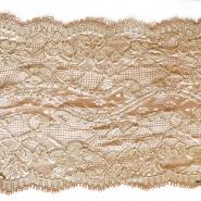Lace, elastic, 140mm, 14165-31, beige