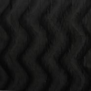 Polyester, flauschig, schwarz, 2962-5