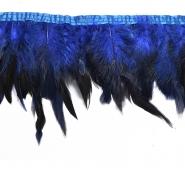 Federn auf Band, 15584-1, blau