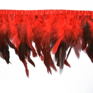 Feathers on a strip, 15584-9, red