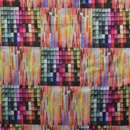 Fabric, satin, geometric, 15585-017 - Bema Fabrics