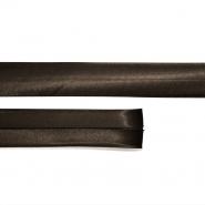 Bias tape, satin, 21_15644-4572, dark brown