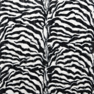 Fur, artificial, zebra, 15645