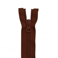 Zipper, divisible 60 cm, 6 mm, 2051-750A, brown - Bema Fabrics