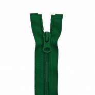 Zipper, divisible 60 cm, 6 mm, 2051-656, green