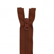Zipper, divisible 60 cm, 6 mm, 2051-750, brown