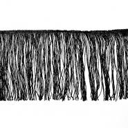 Fringes 25cm, lurex, 00286-1, black