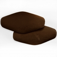 Elbow patches,  chamois, 2 pcs, 00391-40, dark brown