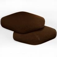 Zakrpe za laktove,  2 kom, 00391-40, tamno smeđa