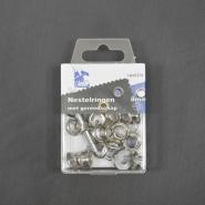 Ringen mit Ausrüstung, 8 mm, 24 Stck, 11572-2, silbern