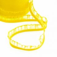 Elastika z volančki, 15 mm, 00294-023, rumena